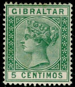 GIBRALTAR SG22, 5c green, M MINT.