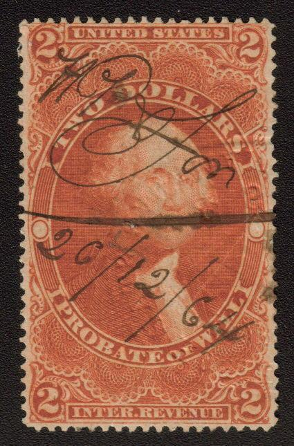 MALACK R83c VF+ embossed cancel, light crease,  Nice..MORE.. n7504