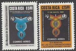 Costa Rica C833-4 MNH  ITU Telecomunications 1981