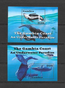 WHALES -  GAMBIA #2518-19  MNH