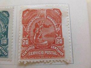 Honduras 1892 20c fine mh* stamp A11P11F11
