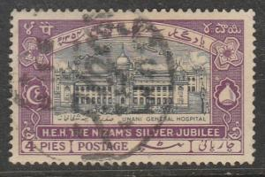 Inde / Hyderabad  1937  Scott No. 47  (O)