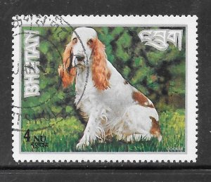 Bhutan #149L Dogs CTO Single