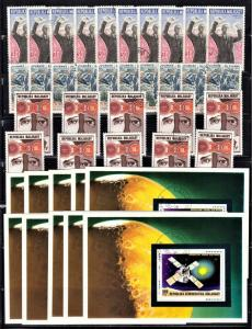 Madagascar wholesale lot 10 of each of Scott 457, 487, 510, 570 F to VF CTO.