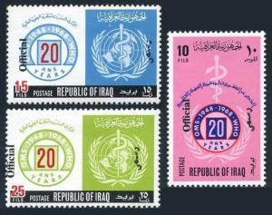 Iraq O222-O224,MNH.Michel D261-D263. Official 1971.WHO,20th Ann.