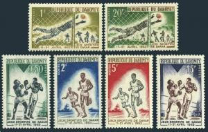 Dahomey 172-177,MNH.Michel 213-218. Friendship Games Dakar,1963.Soccer,Boxers,