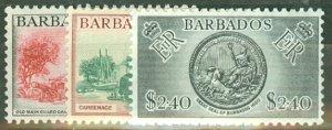 BH: Barbados 235-7 mint, 238-247 MNH CV $72.25; scan shows only a few