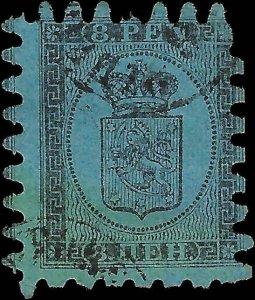 VEGAS - 1866 Finland Sc# 7 Type III - Used - (FD21)