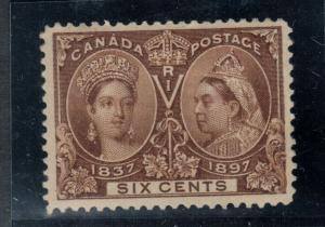 Canada #55 Very Fine Mint Original Gum Hinged
