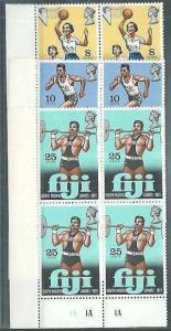 FIJI 1971 South Pacific Games set plate blocks of 4 MNH....................61598