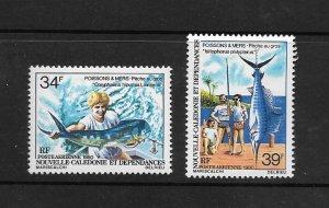 FISH - NEW CALEDONIA #C162-3 FISHING  MNH
