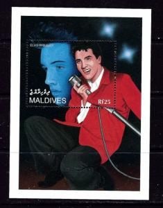 Maldives 2109 NH 1995 Elvis Presley Souvenir Sheet