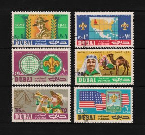 Dubai World Jamboree 1967 Idaho USA - Michel # 286-291 Set