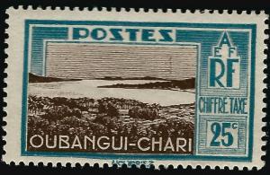 Ubangi-Shari Postage Due (Sc J15) F-VF Mint OG hr..French Colonies are Hot!