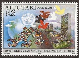 Aitutaki - 1995 United Nations 50th Anniversary - Stamp #512 - 1M-010