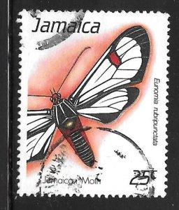 Jamaica 725: 25c Moth (Eunomia rubripunctata), used, VF