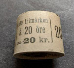 EDW1949SELL : SWEDEN 1921 Facit #179 Scarce Cplt coil roll of 100 MNH Cat 8000Kr