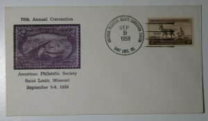 APS Convention Sta St Louis MO 1956 Philatelic Expo Cachet Cover