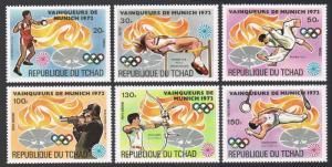 Chad 287 A/K,287M sheet.Michel 627-632,Bl.55. Olympics Munich-1972.Gold medals.