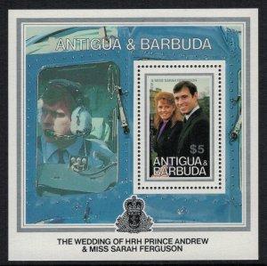 Antigua #942* NH  CV $3.75  Souvenir Sheet Prince Andrew & Fergie