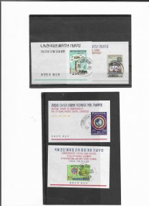 SOUTH KOREA SMALL GROUP OF M/SHEETS
