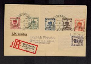 1946 Finsterwalde DDR East Germany Local Issue Sangerstadt Cover