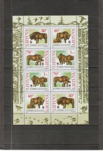 Lithuania MH S/S 532a Bison 1996