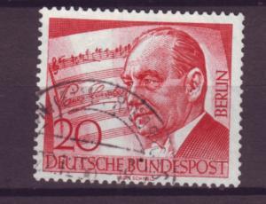 J20700 Jlstamps 1956 berlin germany set of 1 used #9n142 lincke music