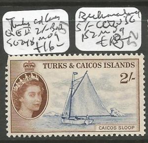 Turks & Caicos QEII 2/- Boat SG 248 MOG (5cho)