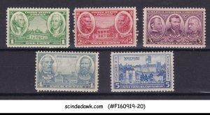 UNITED STATES USA - 1936-37 HONORING THE UNITED STATES ARMY SC#785-789 5V MNH