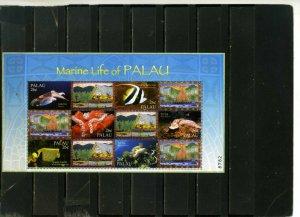 PALAU 2004 FISH & MARINE LIFE SHEET OF 6 STAMPS MNH