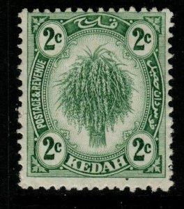 MALAYA KEDAH SG18 1919 2c GREEN MTD MINT
