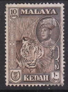Malaya Kedah 1959 Sc 100a 10c maroon color Used