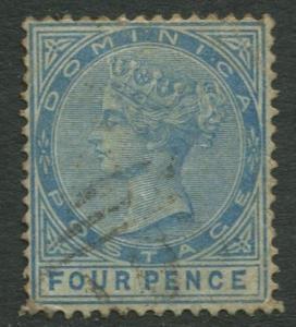 DOMINICA -Scott 7 - QV - Definitive -1877 - VFU - Single 4p Stamp