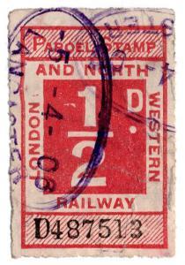 (I.B) London & North Western Railway : Parcel ½d (Lancaster)