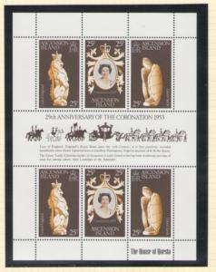 Ascension Sc 229 1978 Coronation stamp sheet mint NH