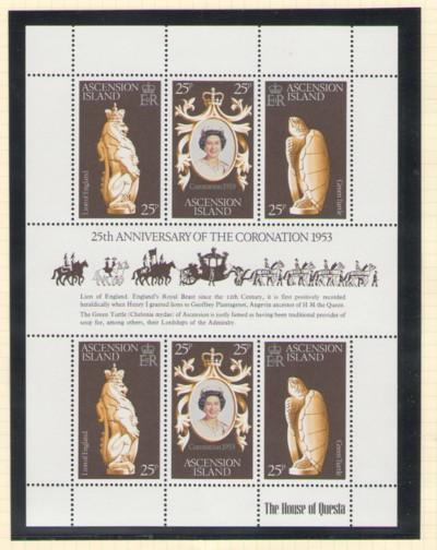 Ascension Sc 229 1978 Coronation stamp sheet mint NH