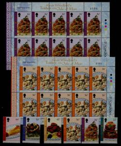Isle of Man 918-23 MNH Europe CEPT-01/Gourmet food 6v+2m/...