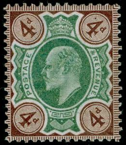 SG235 SPEC M23(1), 4d green & grey-brown, NH MINT. Cat £110.