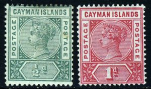 CAYMAN ISLANDS Queen Victoria 1900 The Keyplate Issues SG 1a & SG 2 MINT