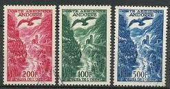 Andorra - French Issues C2-C4 used (1955-1957)