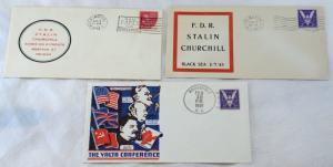 WWII F.D.R. Stalin Churchill Tehran CRIMEA Yalta Conference Covers Cancellation