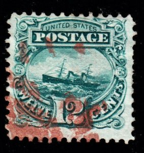 US 117 12c USS Adriatic Used w/ Red Cancel F-VF SCV $270