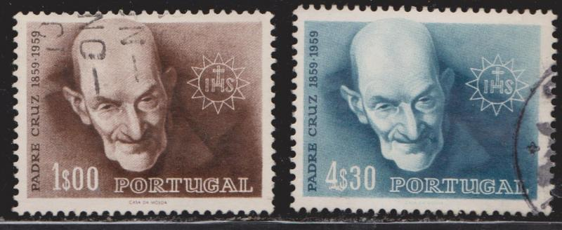 PORTUGAL Scott # 855-6 - Used - 1960 Father Cruz Father Of The Poor