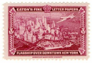 (I.B) US Cinderella : Eaton's Fine Letter Papers (Airplane over New York)
