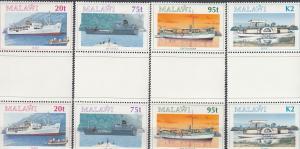 Malawi, Sc 634-637, MNH, 1994, ships - Gutter Pair