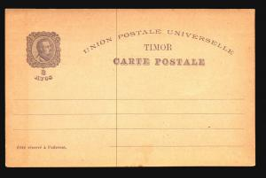 Timor Late 1800s 3A Postal Card Unused  - Z15122