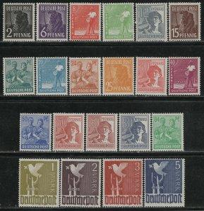 Germany AM Post Scott # 557 - 577, mint nh, incl. # 571a