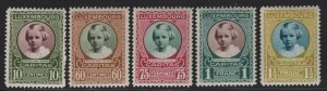 Luxembourg 1928 Princess Marie Adelaide set Sc# B30-34 NH