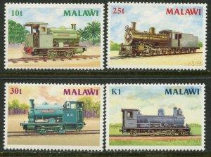 MALAWI Sc#498-501 1987 Locomotives Complete Set OG Mint Hinged